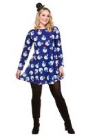 Christmas Dress Blue Snowman (XM4630)